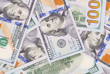 Lots of dollar notes