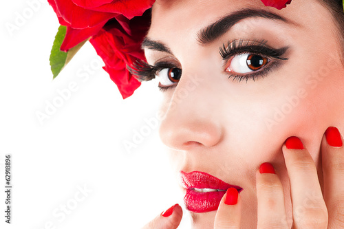 portrait of a beautiful fashion model