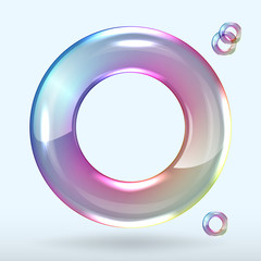 soap bubble on grey background clear
