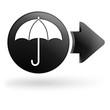 parapluie sur bouton noir