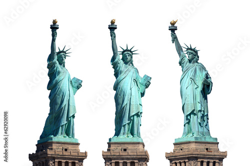 Foto op Canvas Artistiek mon. statue of liberty - New York - freigestellt