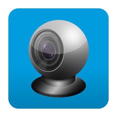 Etiqueta tipo app cuadrada webcam