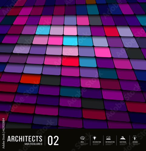 Architects abstract purple tiles materials design