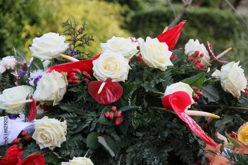 canvas print picture Blumen der Trauer