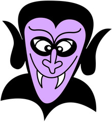 Purple Dracula smiling