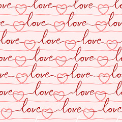 seamless romantic and lovely pattern for various purpose