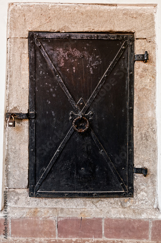 closed metal door