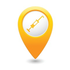 Hospital icon on map pointer