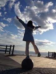 girl to the sky