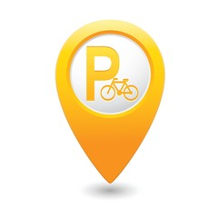 Parking for bicycle icon on map pointer