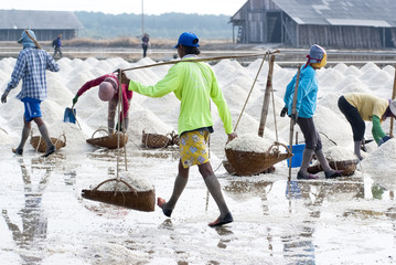 Salt farming in Thailand