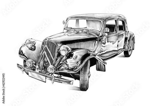 old classic car retro vintage - 62922445