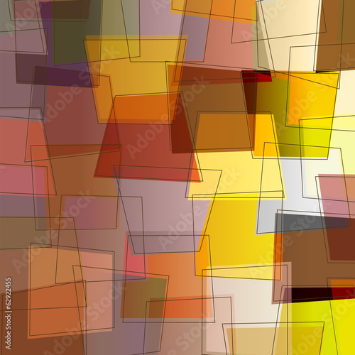 abstract composition, trapeze and lines, vector