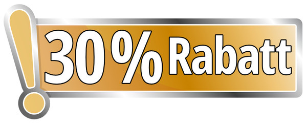 30 Prozent Rabatt