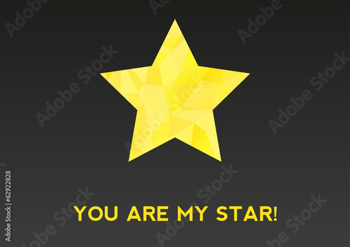 You are my star! card