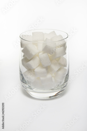 Sugar cube in glass