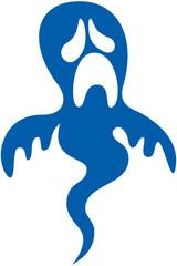 Pitiful Blue Halloween Ghost