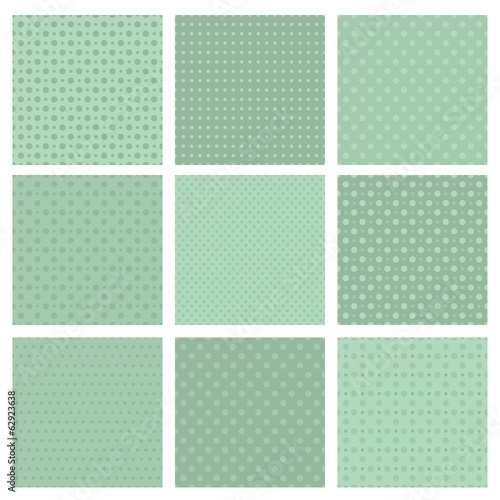 Set of simple geometric seamless patterns