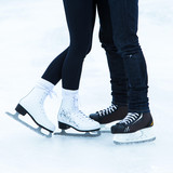 Fototapety People on the ice rink