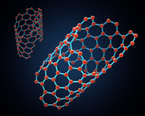 Carbon nanotube structure - nano technology illustration