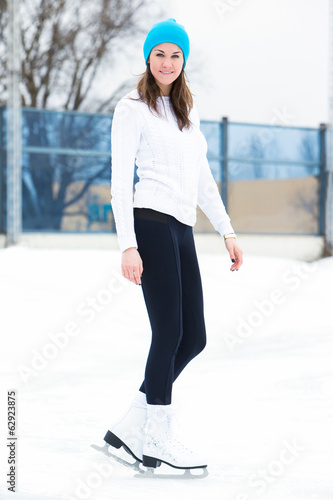 Girl at the ice rink