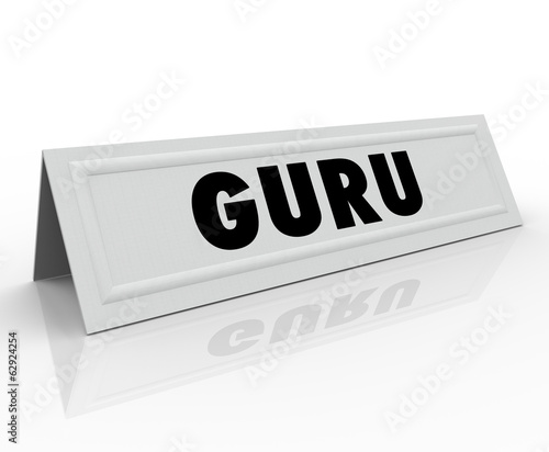 Guru Name Tent Card Expert Master Teacher Guide Speaker