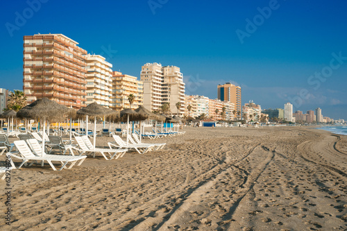 Fuengirola Beach, tourist city on the coast of the Mediterranean