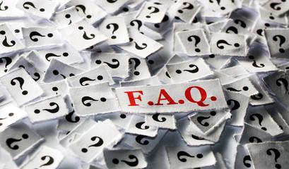 FAQ question marks