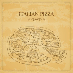 Vector Illustration of an Italian Pizza Poster