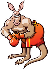 Muscled Boxing Kangaroo