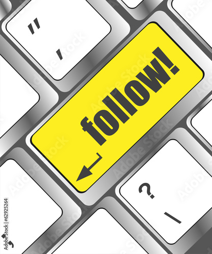Social media: Keyboard with follow button
