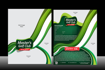 Wave Golf Flyer Template