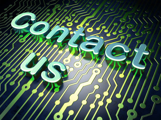 Marketing concept: Contact Us on circuit board background