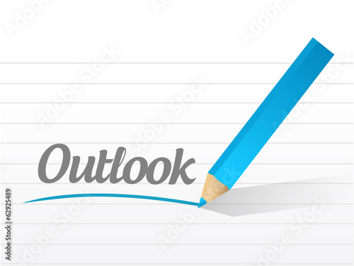 outlook message illustration design