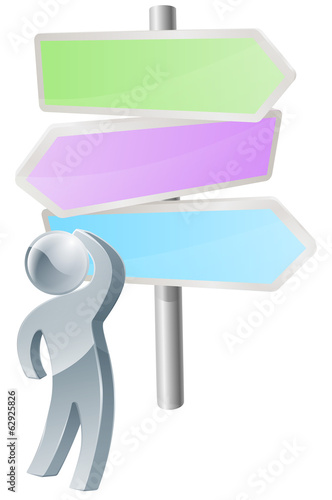 Direction sign post concept