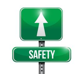 safety street sign illustration design