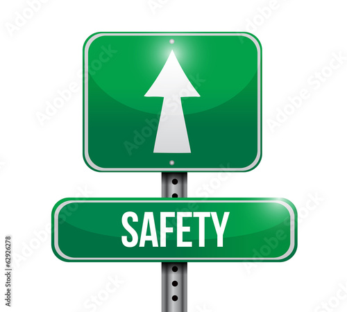 safety street sign illustration design