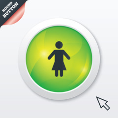 Female sign icon. Woman human symbol.