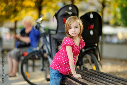 Adorable little girl portrait outdoors