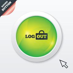 Logout sign icon. Log out symbol. Lock.