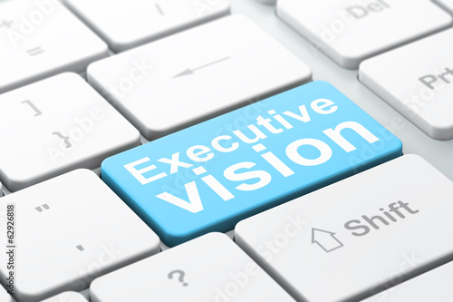 Business concept: Executive Vision on computer keyboard