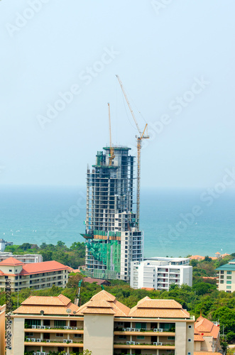 Building construction near sea