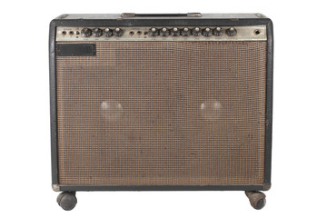 Old Guitar Amplifier Isolated