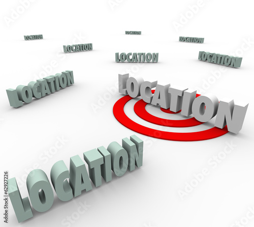 Location 3d Words Best Place Live Work Move Real Estate Priority