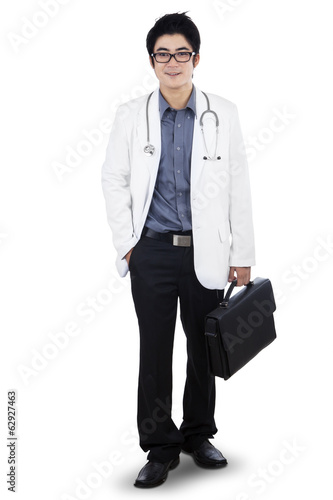 Doctor holding briefcase