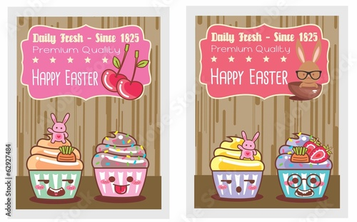 card-set-happy easter-cartoon 01