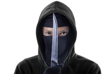 Man with sharp knife