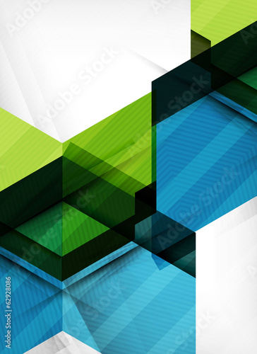 Vector business geometric design background