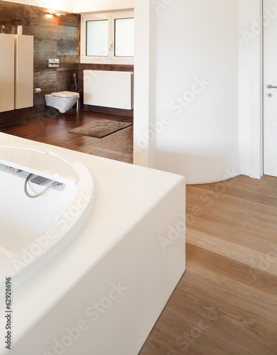 interiors of a modern house, bathroom