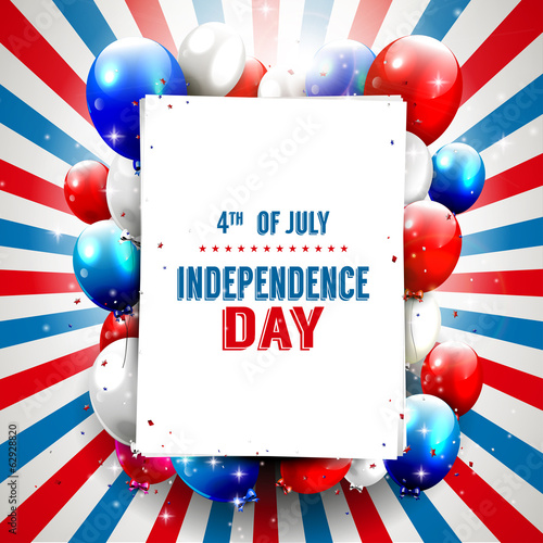 Independence day - vector background with copy-space